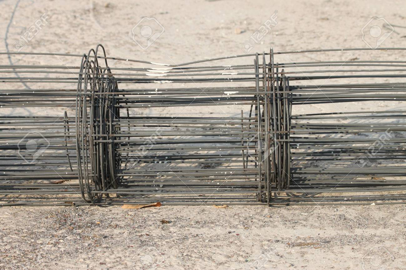Wire Mesh For Concrete Cement Work In Building Construction Site ...