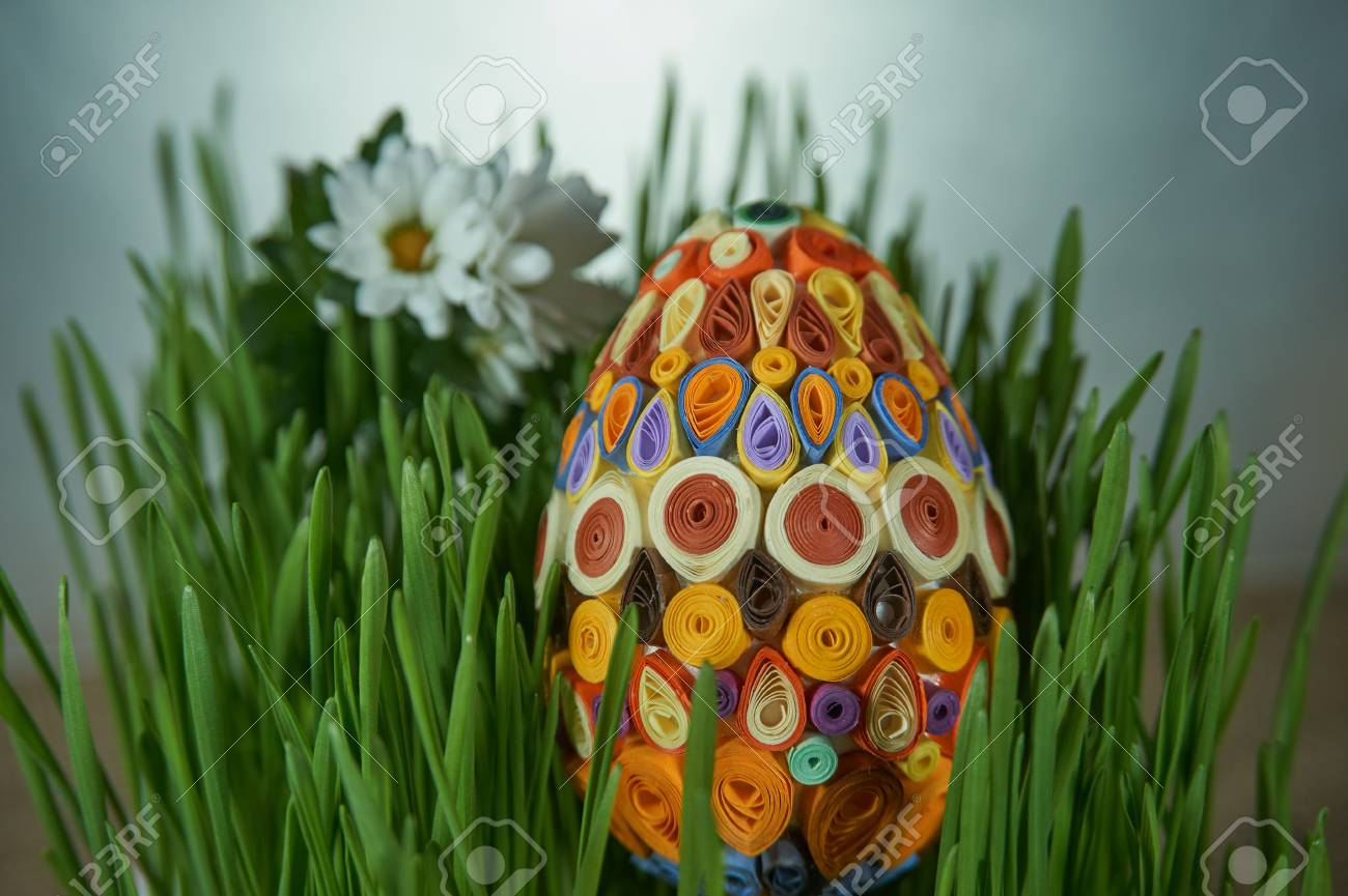 Easter Craft Ideas The Easter Egg Decorated With Multicolored