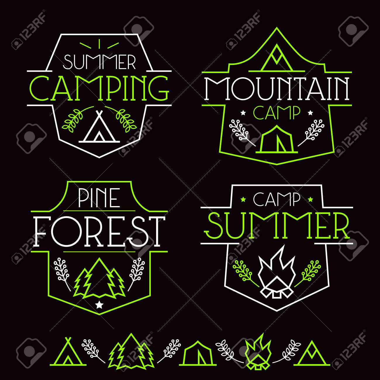 Design t shirt neon colors - Design T Shirt Neon Colors Neon Colors Print On A Black Background Camping Badges And