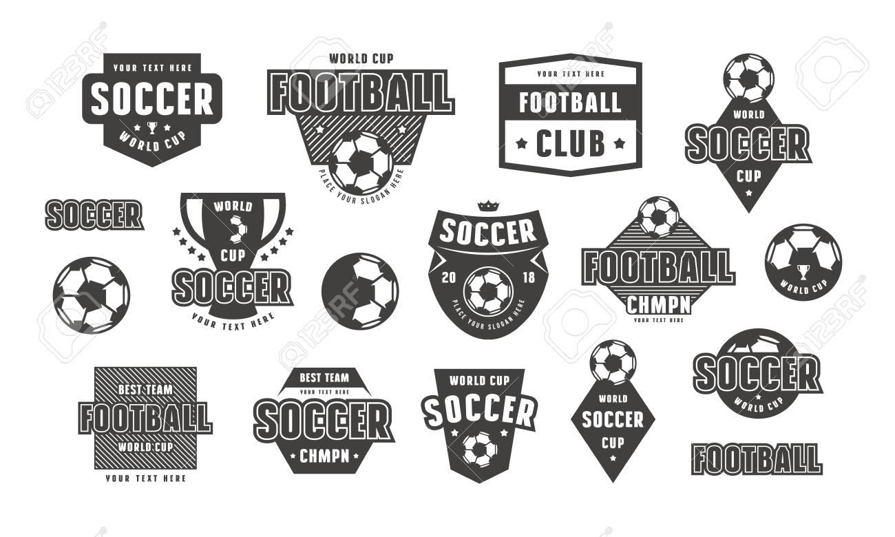 Set Of Template Emblem For Soccer Team Graphic Design For T Shirt