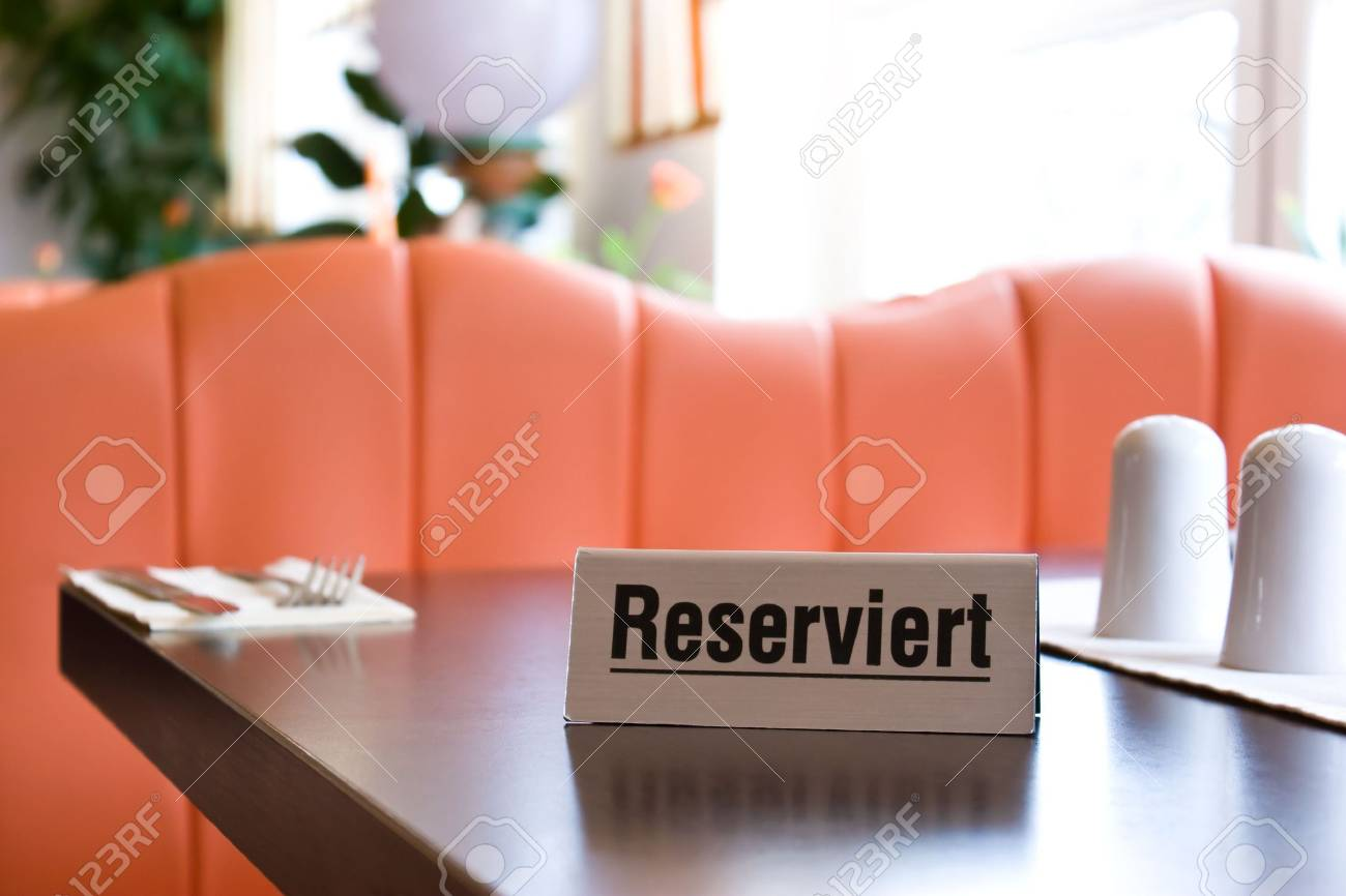a reservation sign in a restaurant Stock Photo - 5604754