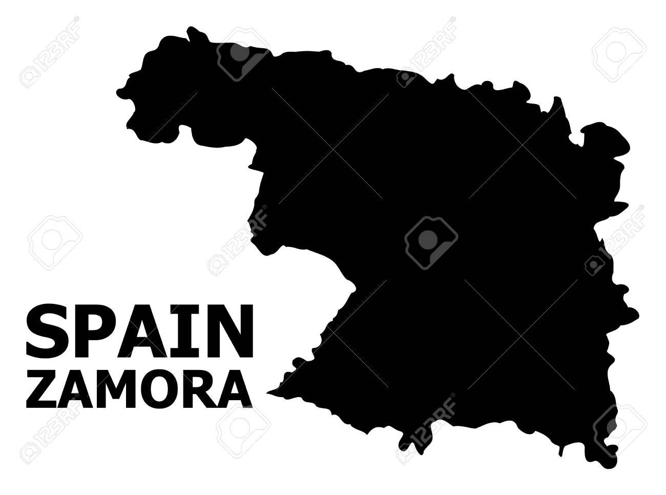 Map Of Spain Zamora.Vector Map Of Zamora Province With Caption Map Of Zamora Province