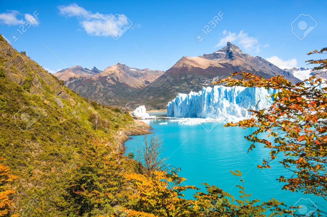 Patagonia South America >> Panorama Of Glacier Perito Moreno In Patagonia South America