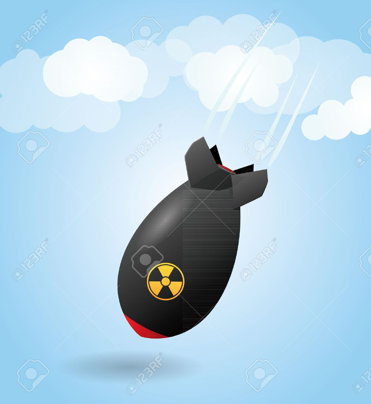 Cartoon rocket bomb Stock Vector - 12158097