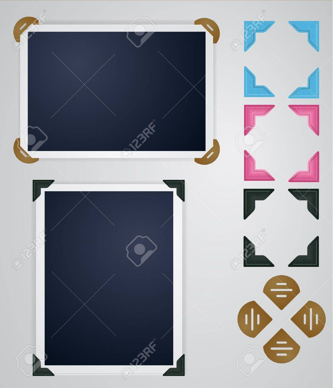 Vintage photo frames and corners Stock Vector - 12158888