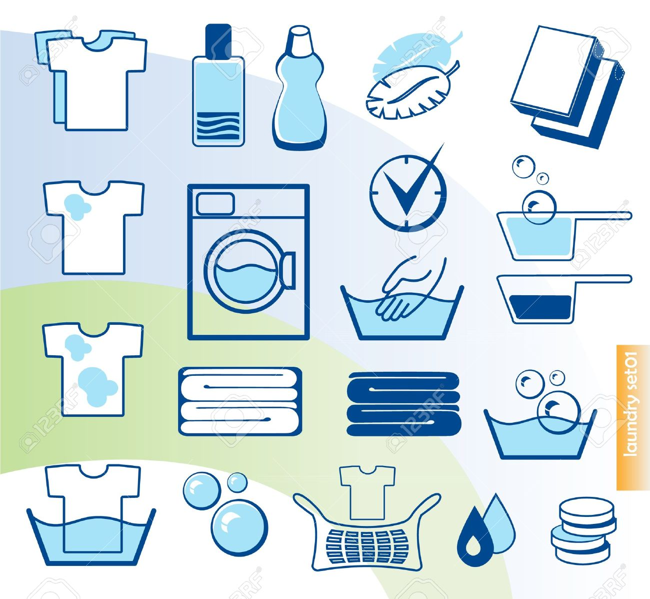 Laundry vector icons set Stock Vector - 12711057