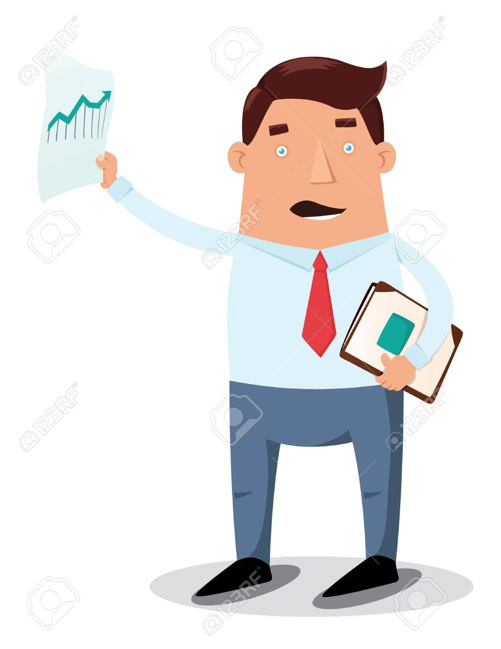 Office worker showing chart graph - 13717249