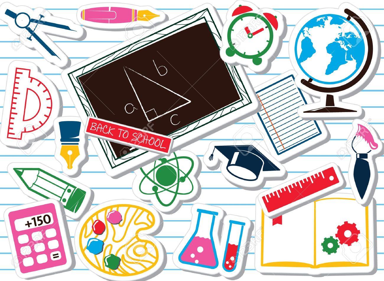 School supplies, colorful set - 13797323