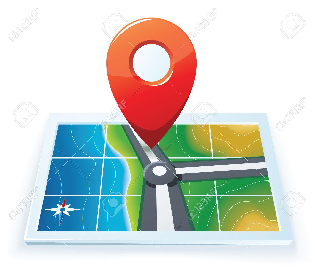 Modern gps map icon - 14965687