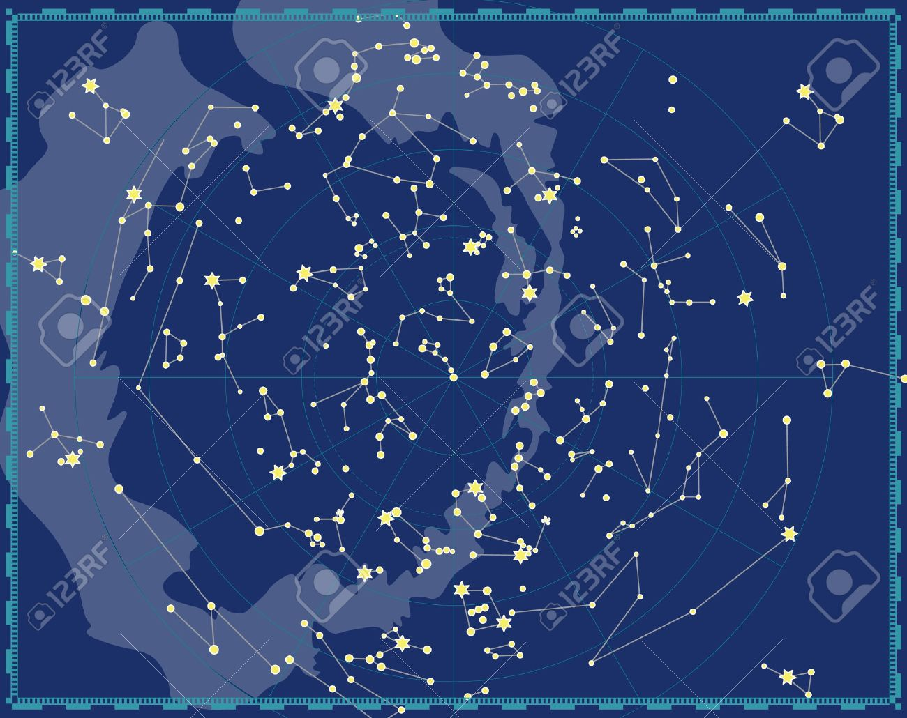 Celestial Map Of The Night Sky Royalty Free Cliparts, Vectors, And on
