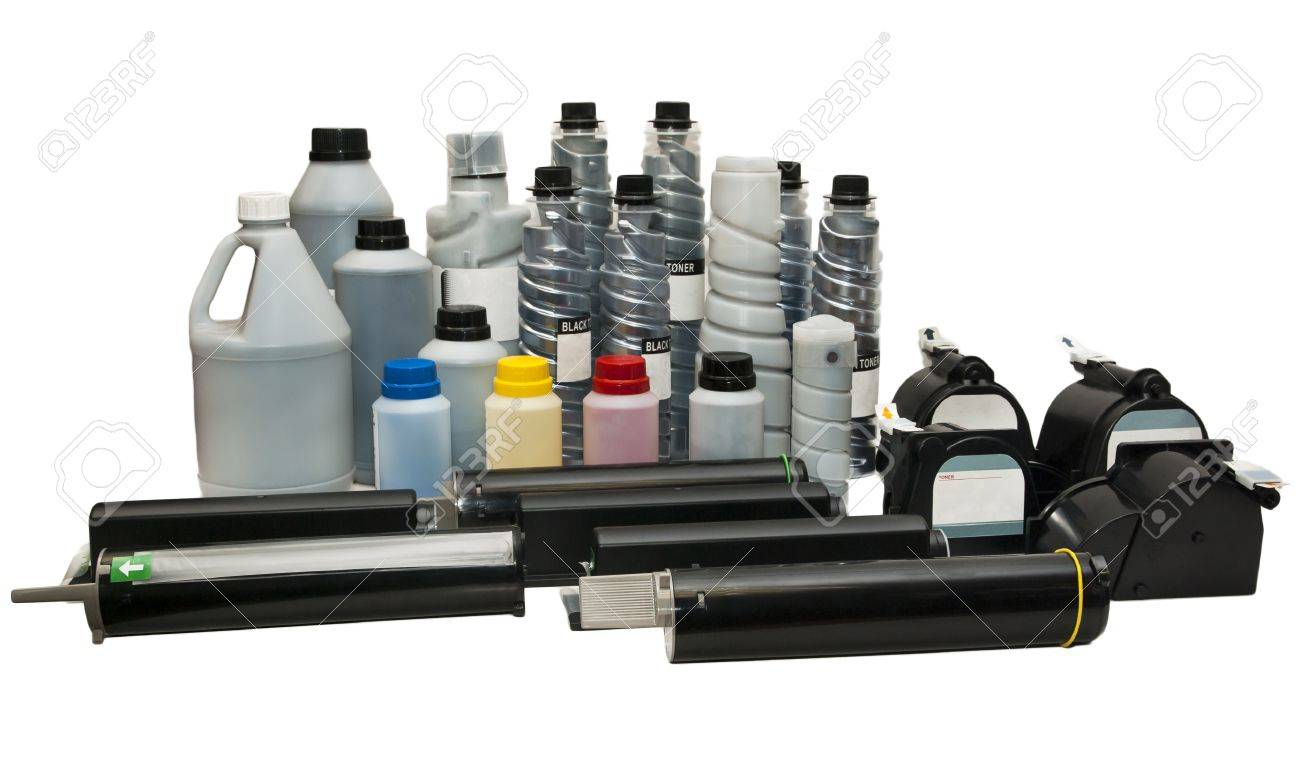Ink and cartridges for printers, scanners Stock Photo - 17469069