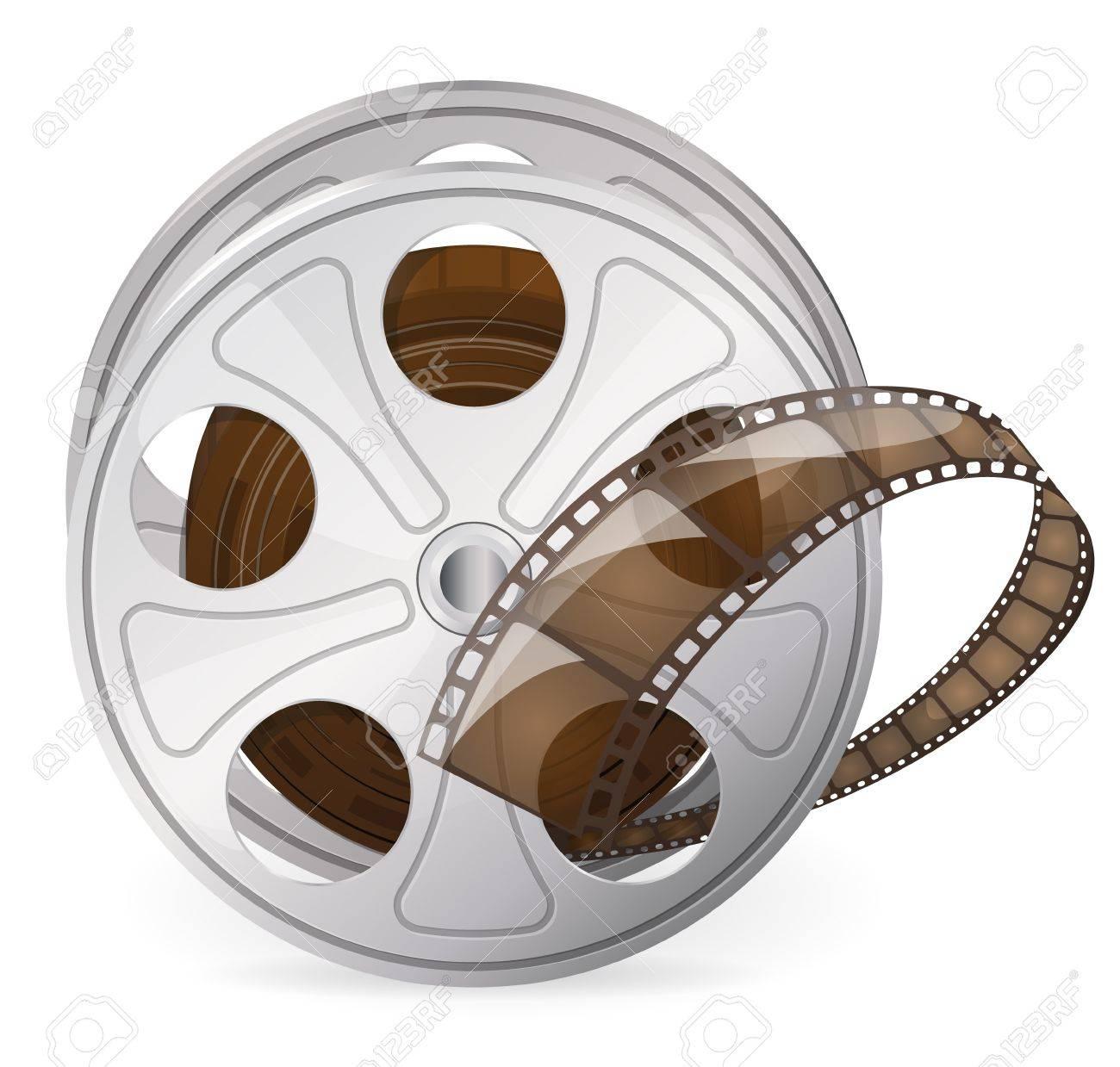 Vintage reel of movie tape Stock Vector - 17571380