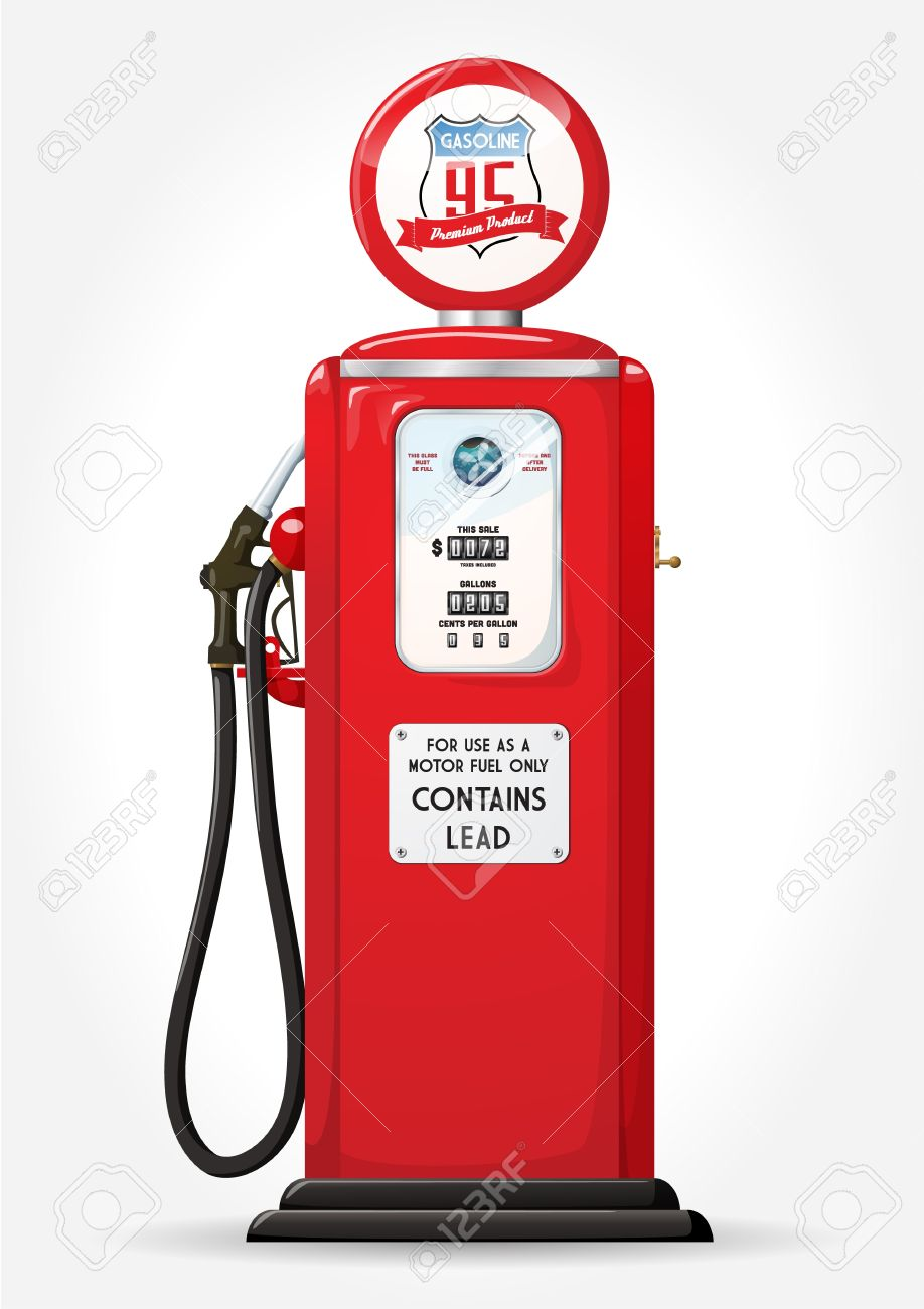 Gasoline pump retro design - 17782586