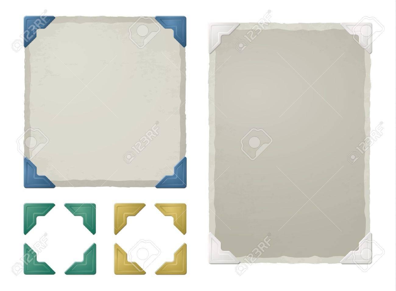 Vintage photo corners, frames - 20654446
