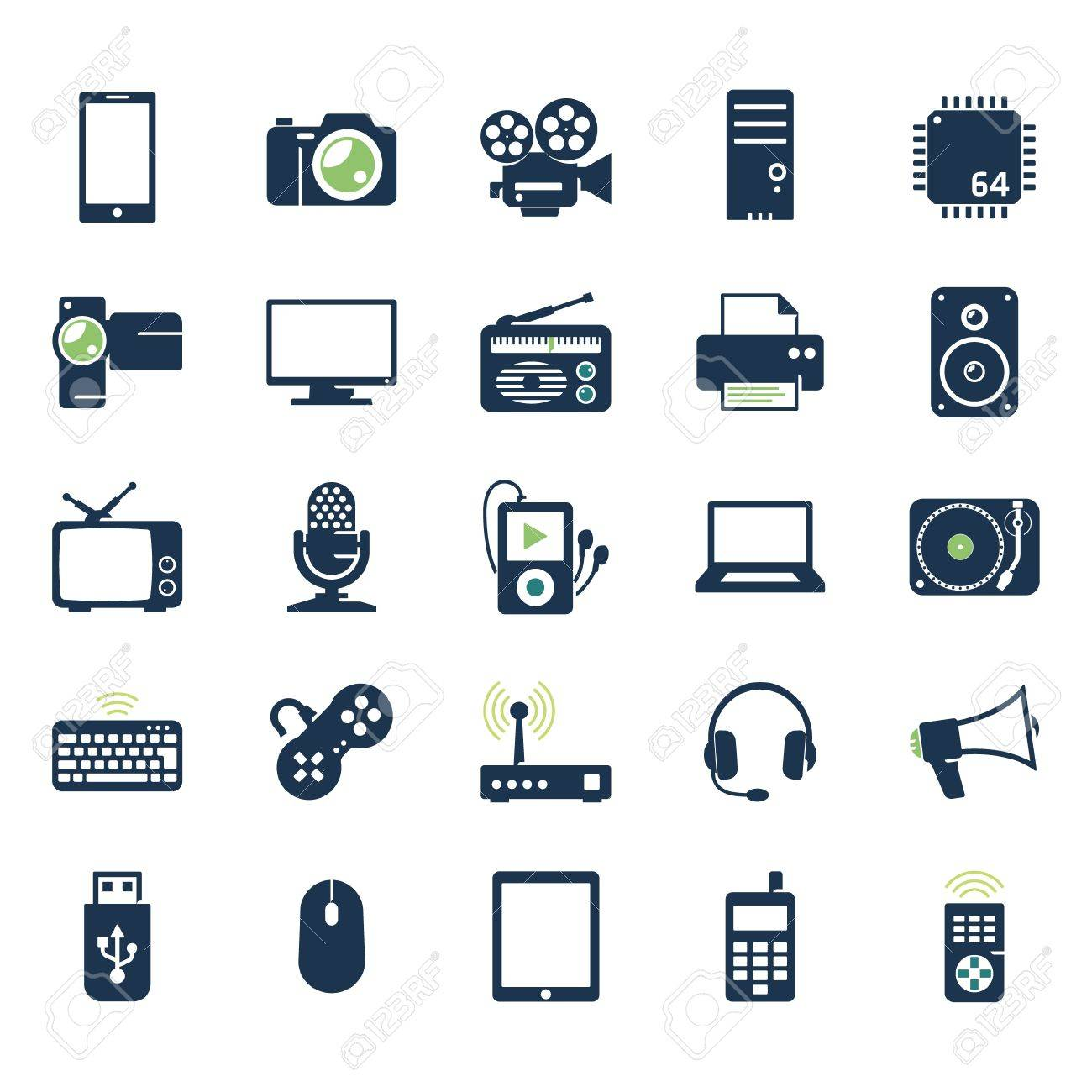 Electronics and gadgets icons set - 20654145
