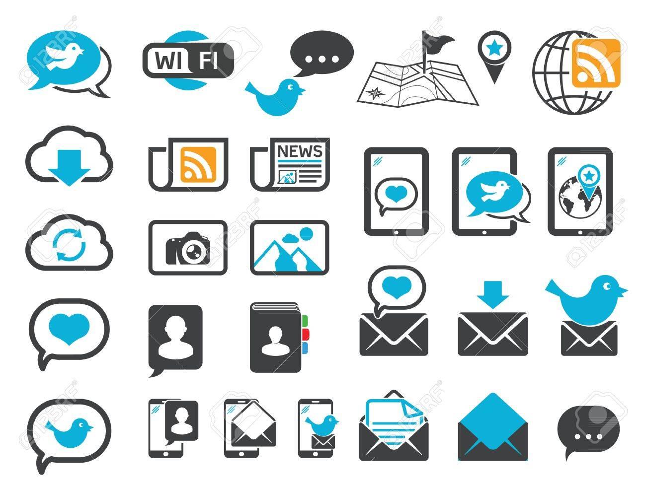 Modern communication icons - 20654535