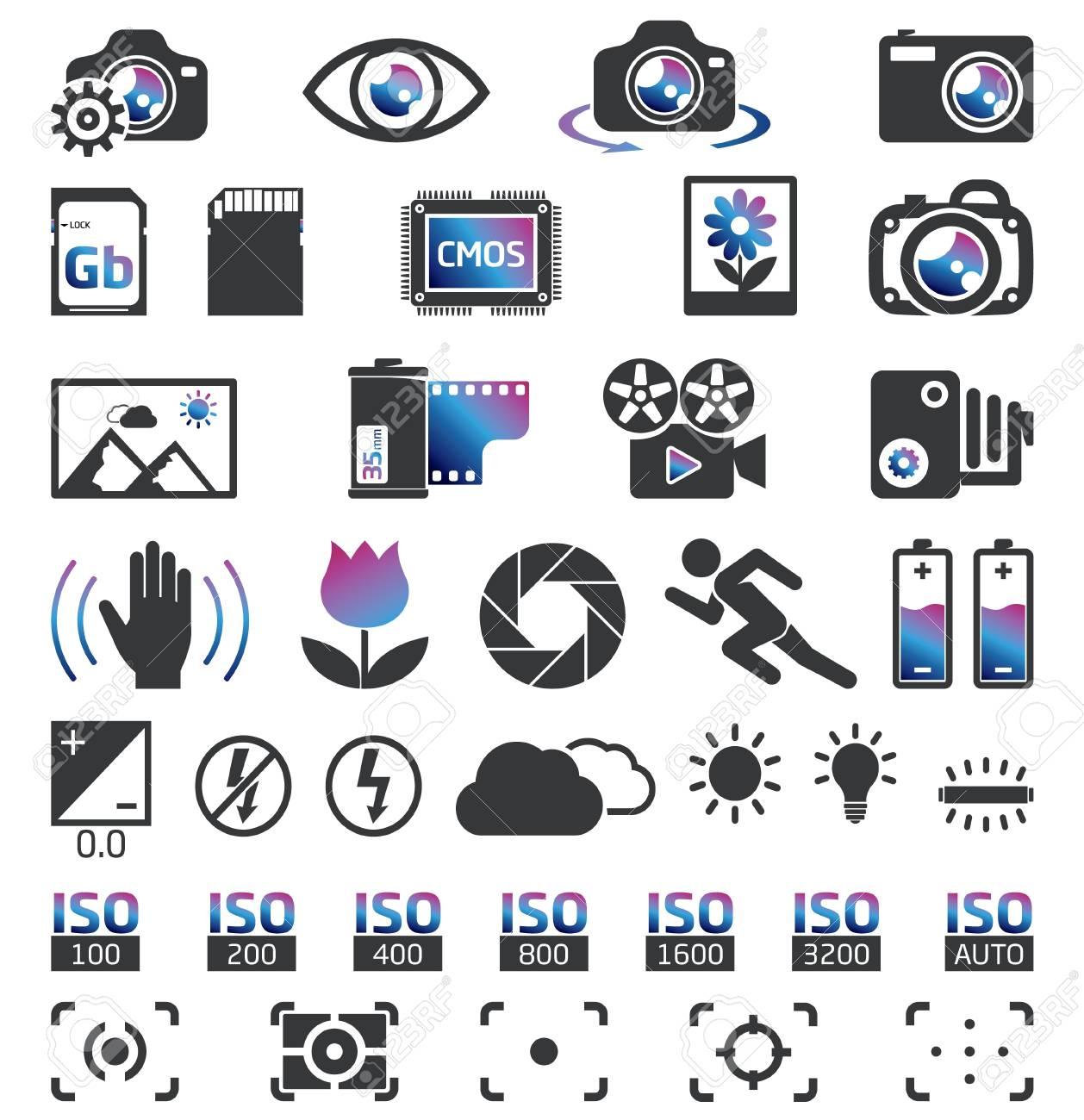 Camera Display Screen symbols - 20654503