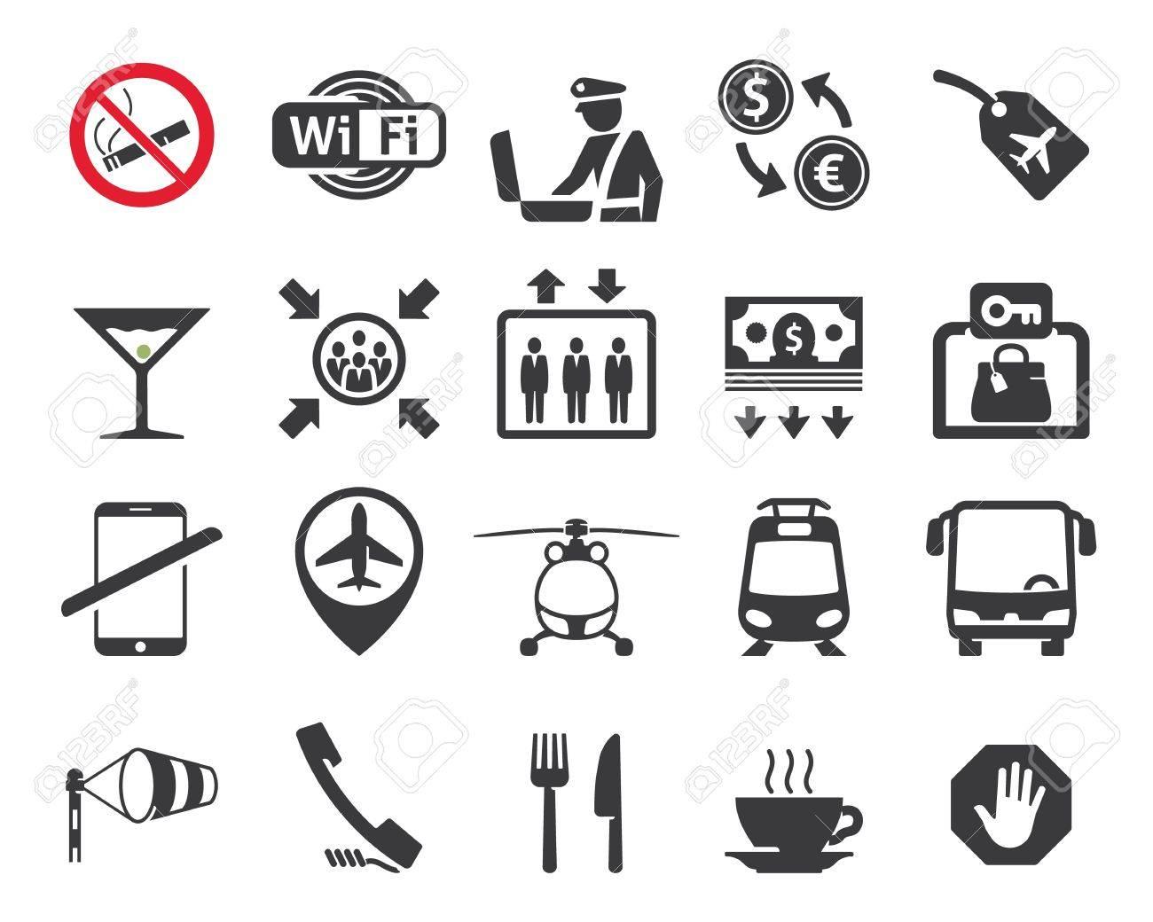 Travel and airport signs symbols royalty free cliparts vectors travel and airport signs symbols stock vector 20654099 buycottarizona Choice Image