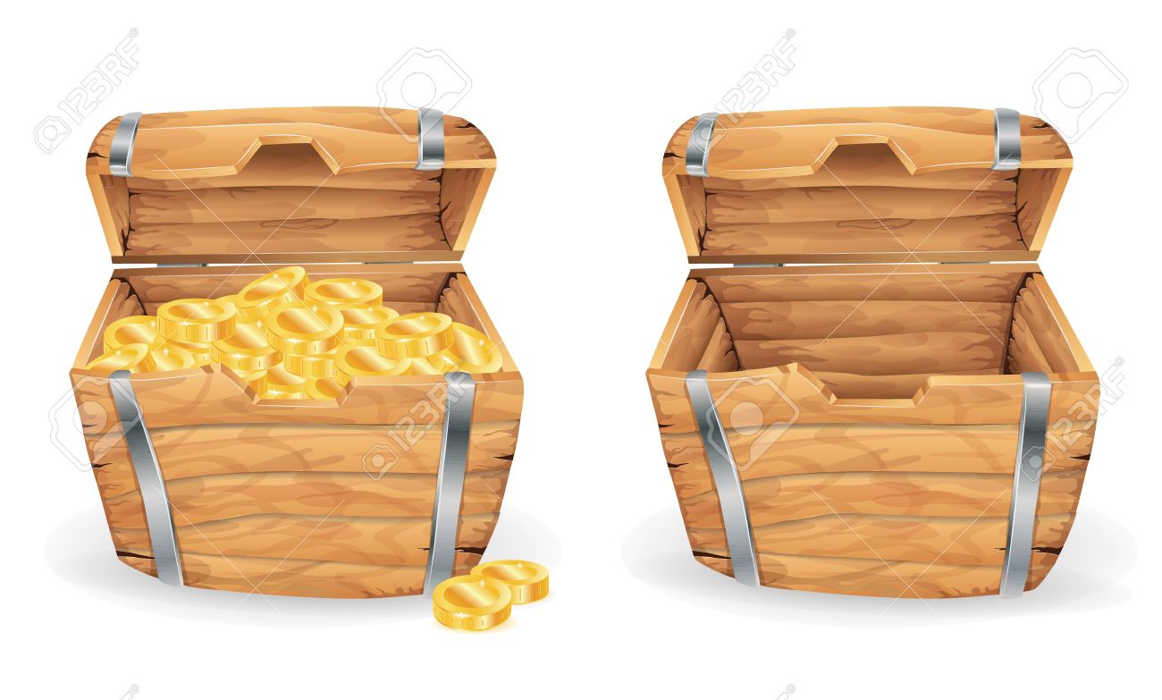 Worksheet Full And Empty treasure chest full and empty royalty free cliparts vectors stock vector 20654612