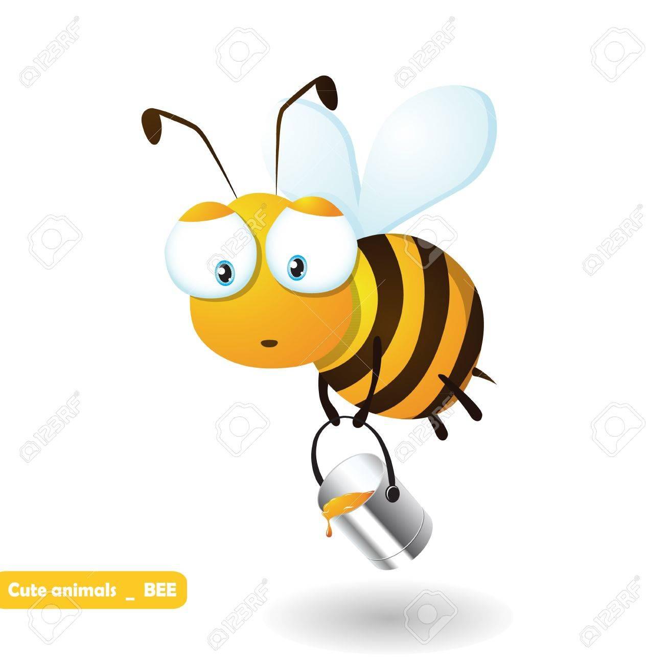 Cute cartoon honeybee - 20654215