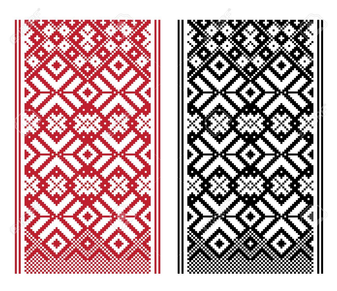 Geometrical knitting pattern, woven belt pattern - 20654348