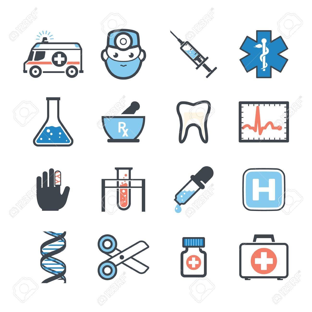 Ambulance icons set color - 20872516