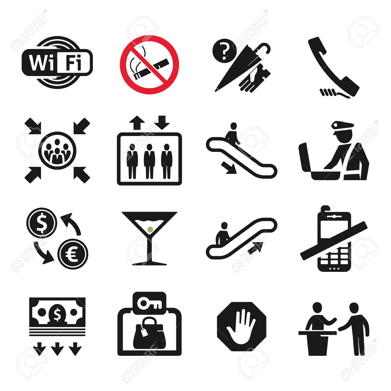 Public places information signs icons set royalty free cliparts public places information signs icons set stock vector 20872528 buycottarizona Image collections