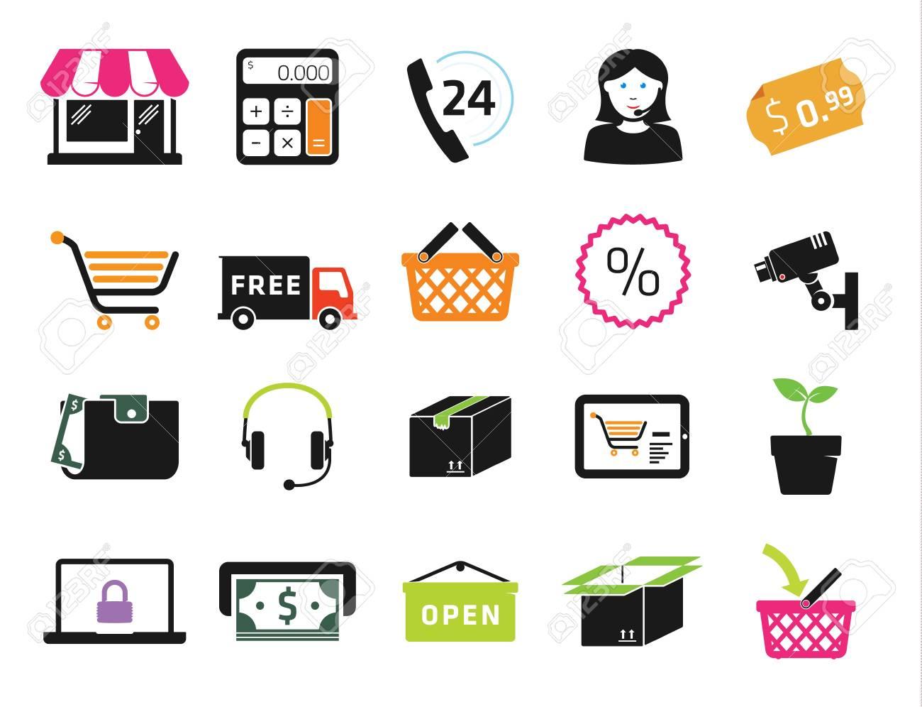 Shopping icons set - 20872537