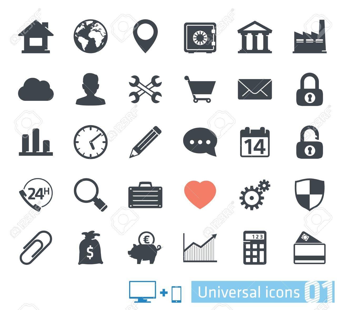 Universal icons set 01 - 20872531
