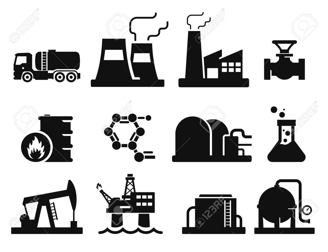 Gas and Oil icons set 02 - 35836150