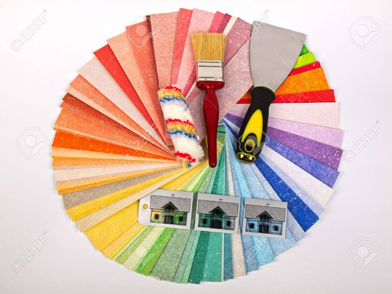 color swatch with paint brush and roller Stock Photo - 11849211