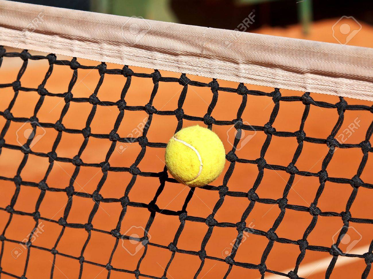 tennis ball stack in the net Stock Photo - 12787776