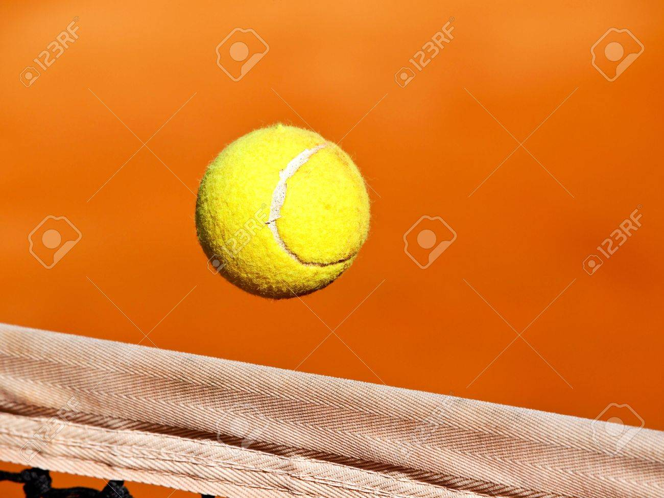 tennis ball ower the net Stock Photo - 13202805