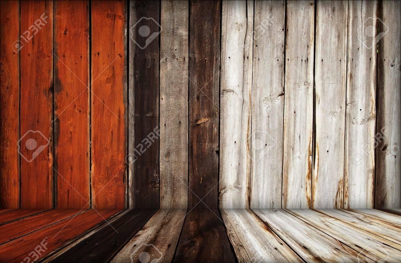 dark wooden room interior Stock Photo - 12828321