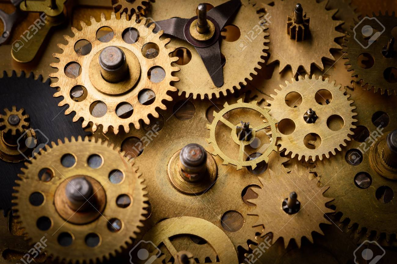 vintage gears and cogs stock photo picture and royalty free image