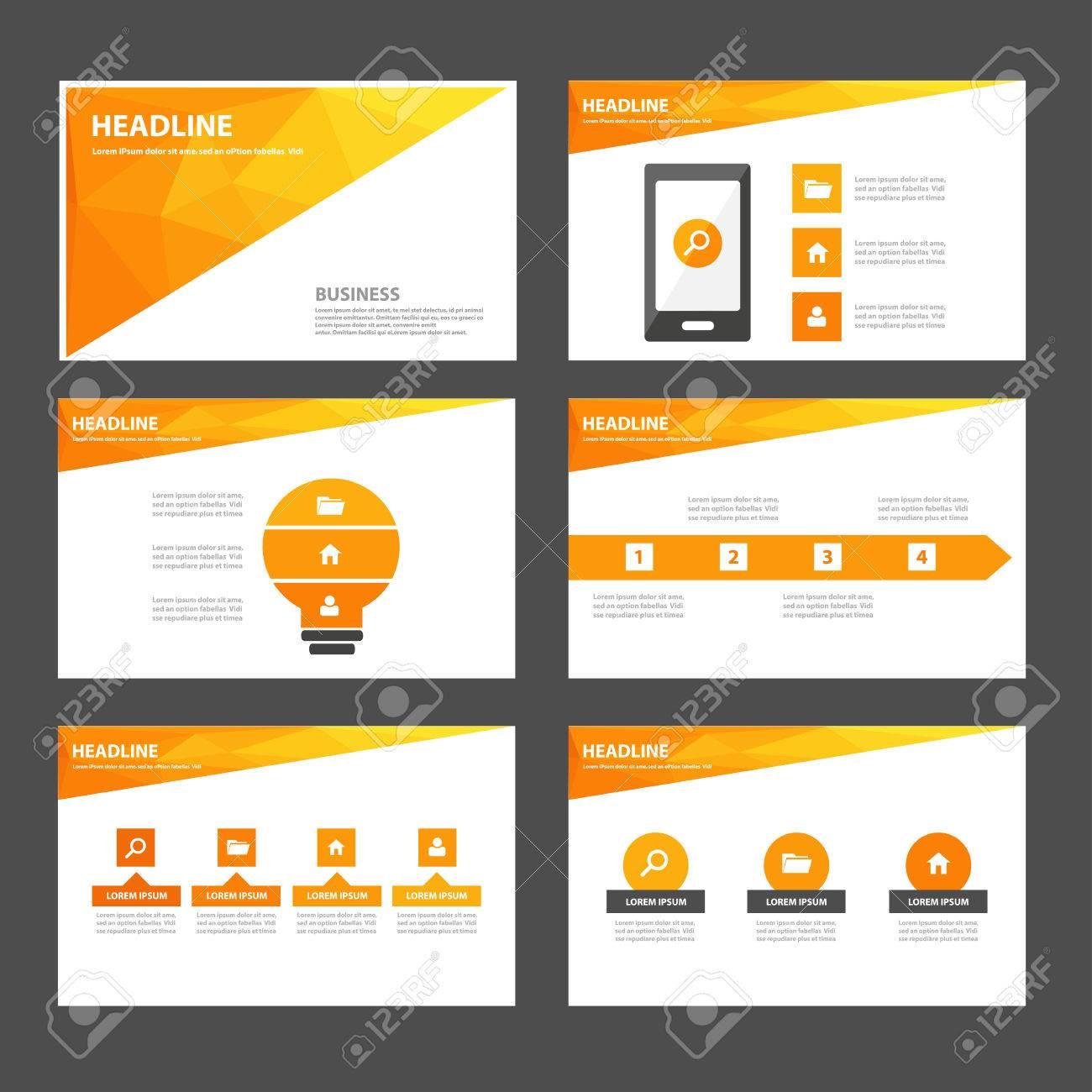 Präsentationsvorlage Flache Design-Set Für Werbung Marketing ...