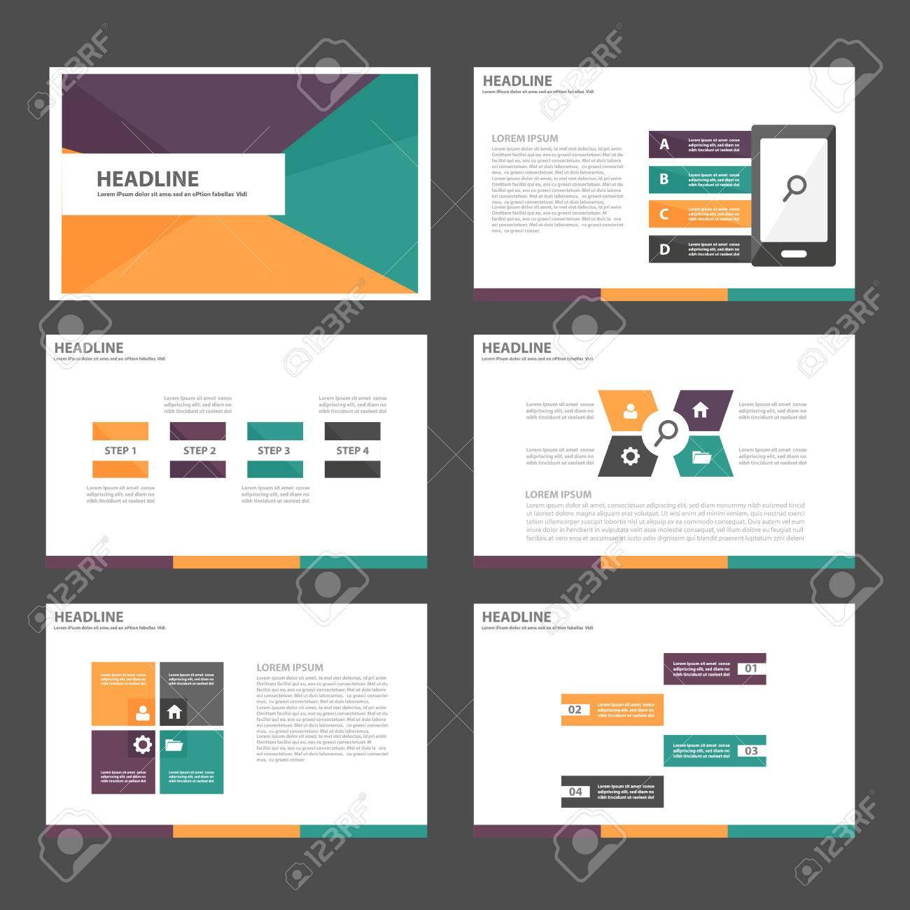 Purple Green Orange Multipurpose Infographic Elements And Icon ...