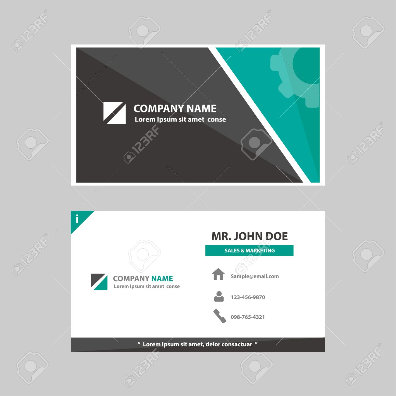 Green and black multipurpose business profile card template flat green and black multipurpose business profile card template flat design for company advertising introduce marketing recruitment cheaphphosting Images