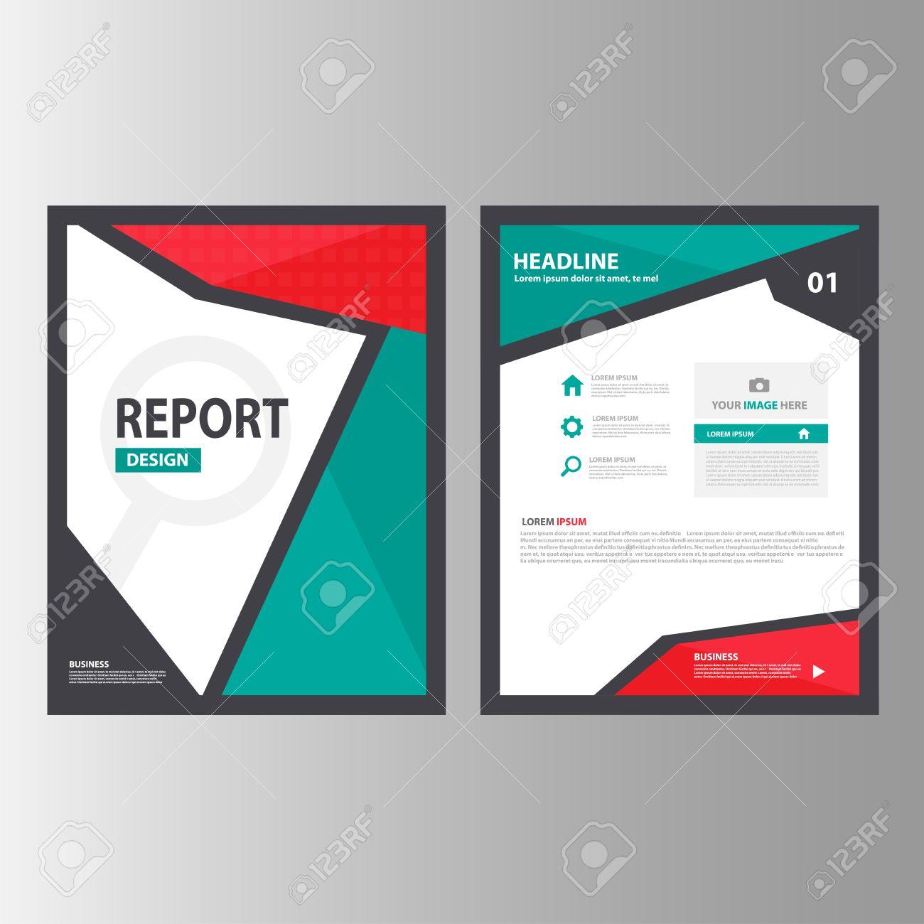 red green black annual report multipurpose infographic elements red green black annual report multipurpose infographic elements and icon presentation template flat design set for