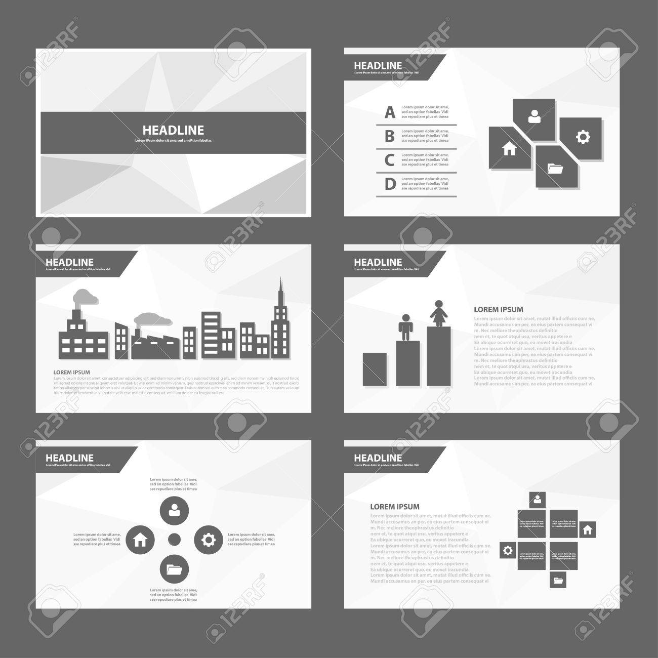 Black White Annual Report Multipurpose Infographic Elements And ...