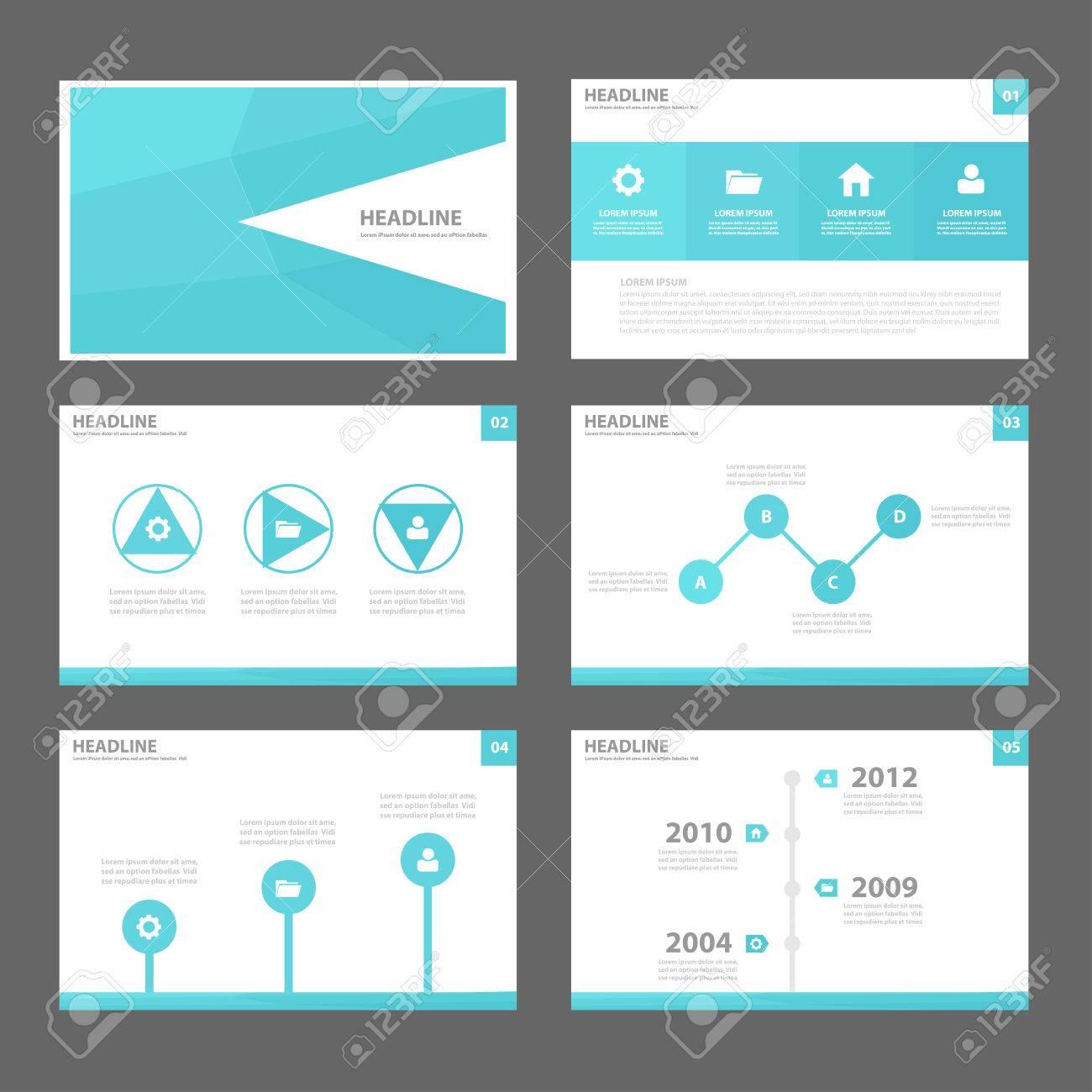 Blau Polygon Jahresbericht Zweckinfografik-Elemente Und Das Symbol ...