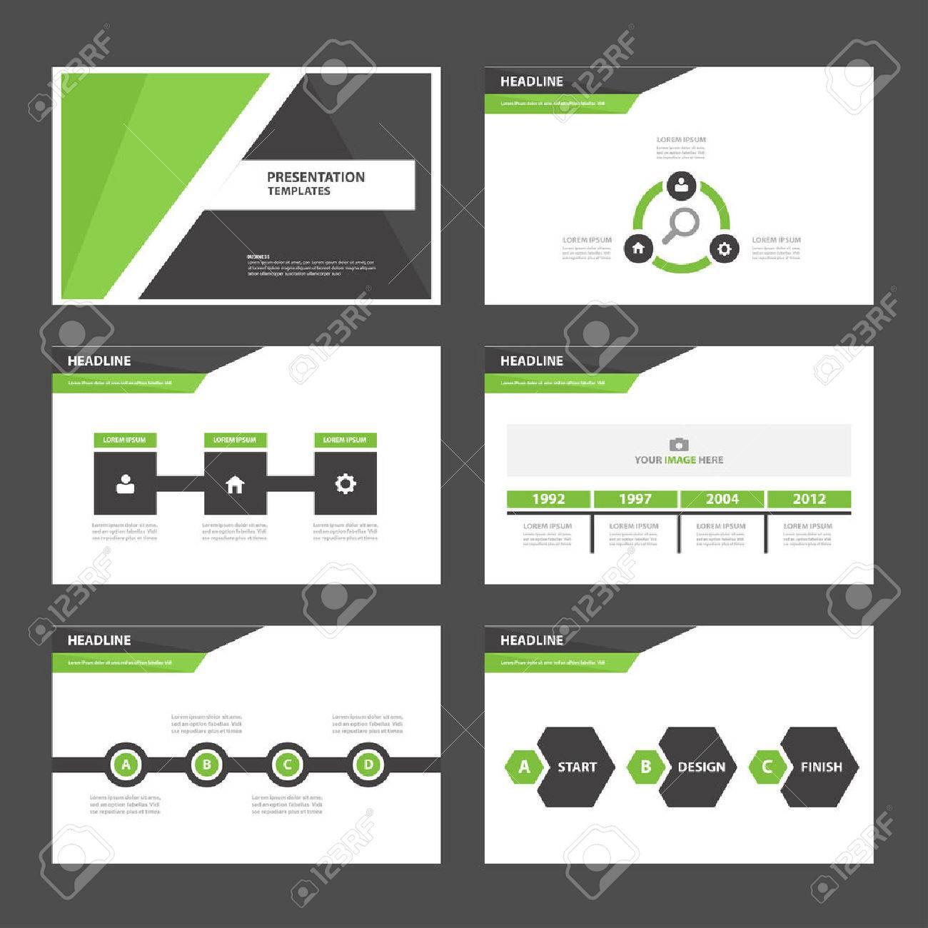 Grün Schwarz Multifunktionsinfografik-Elemente Und Symbol ...