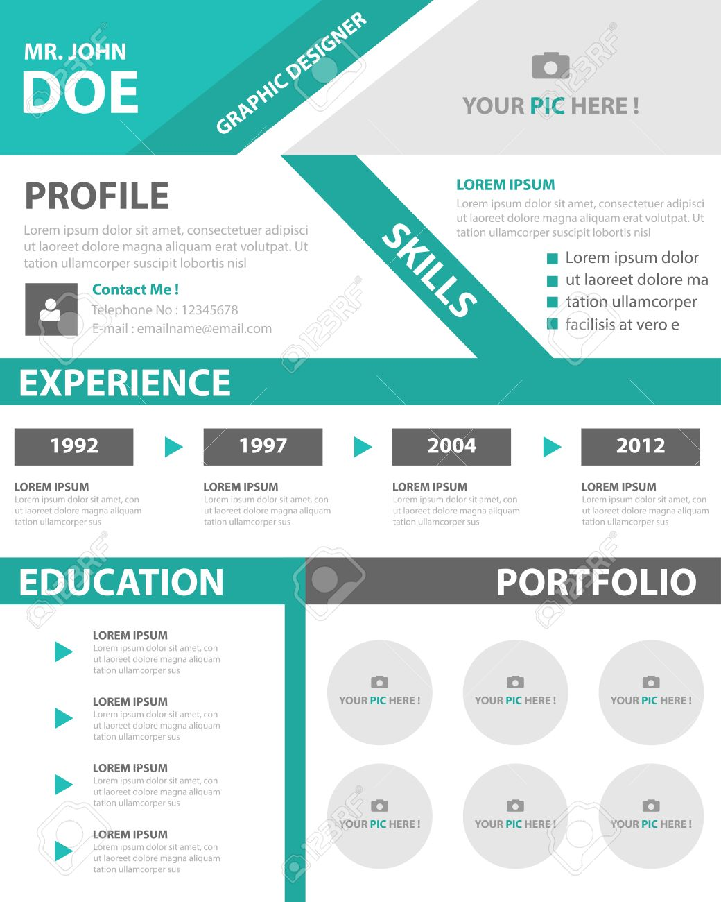 Grüne Smart Kreative Business Profil Lebenslauf Lebenslauf