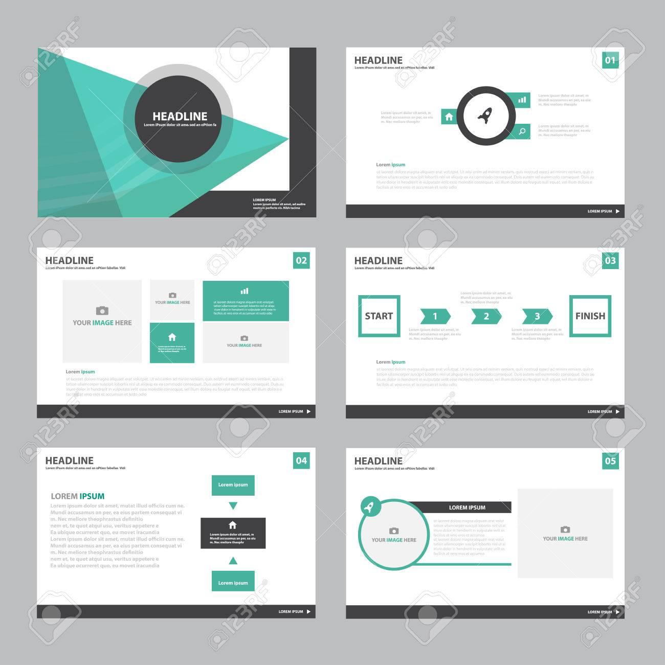 Green Abstract Präsentationsvorlage Infografik-Elemente Flache ...