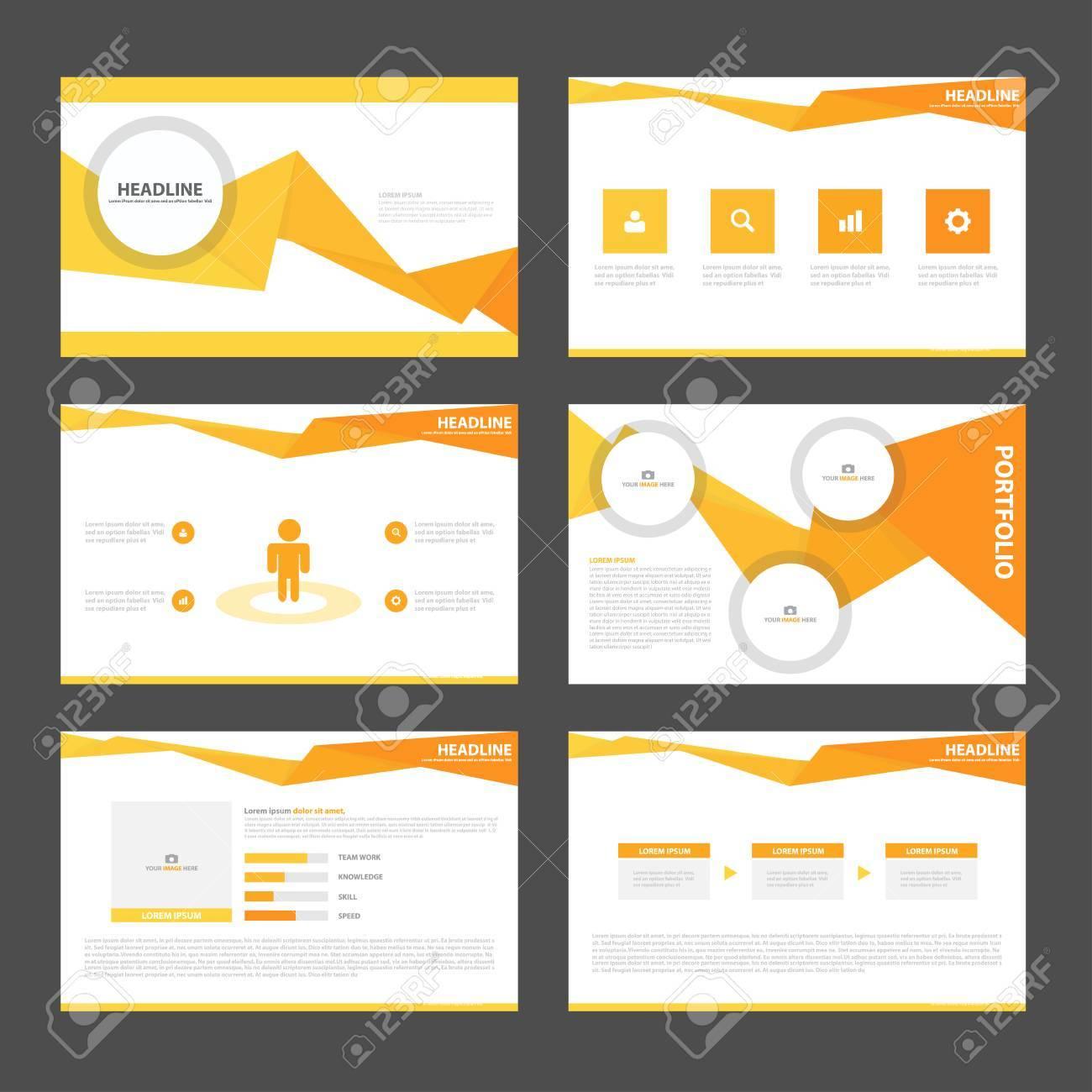 orange presentation templates infographic elements flat design orange presentation templates infographic elements flat design set for brochure leaflet marketing advertising stock vector