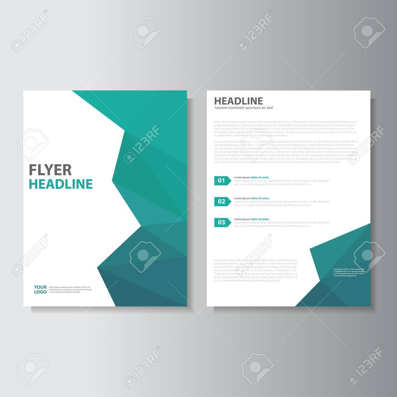 Vector Broschüre Broschüre Flyer Vorlage A4-Format Design ...