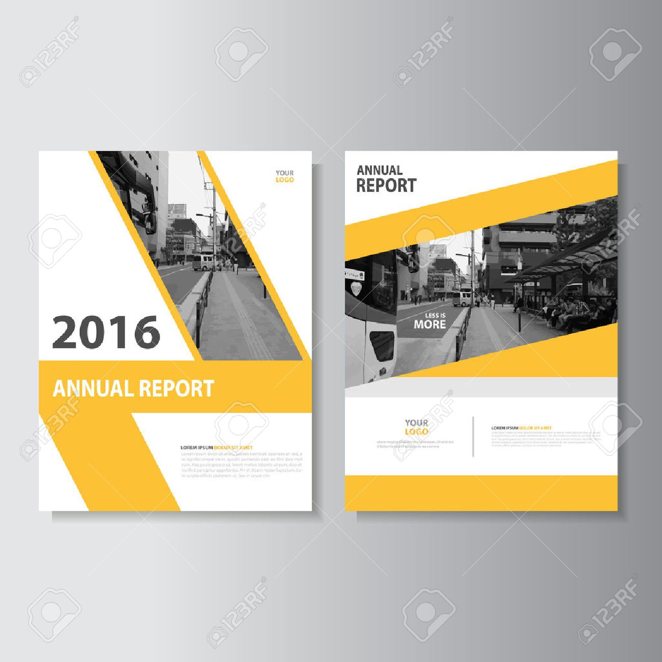 Vector Leaflet Brochure Flyer template A4 size design, annual report book cover layout design, Abstract green presentation templates - 54363076