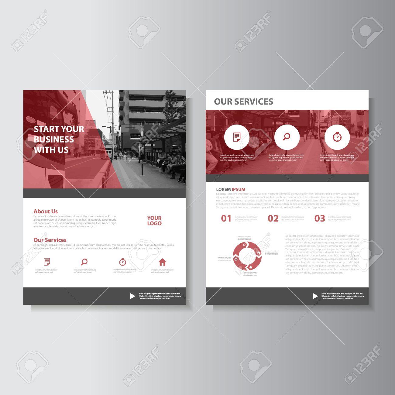 Red Magazine Jahresbericht Prospekt Broschüre Flyer Template-Design ...