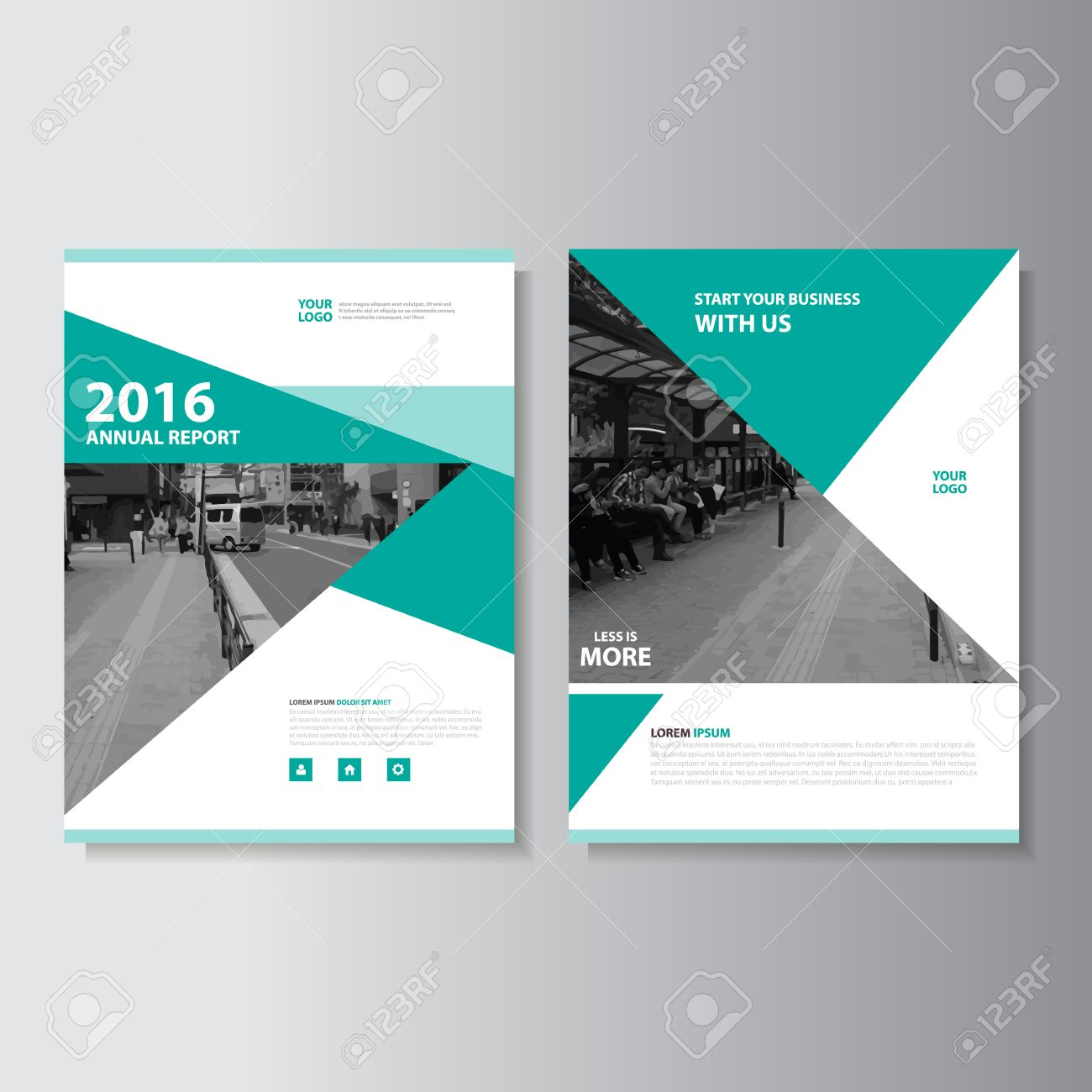 brochure template design with green elements layo stock.html