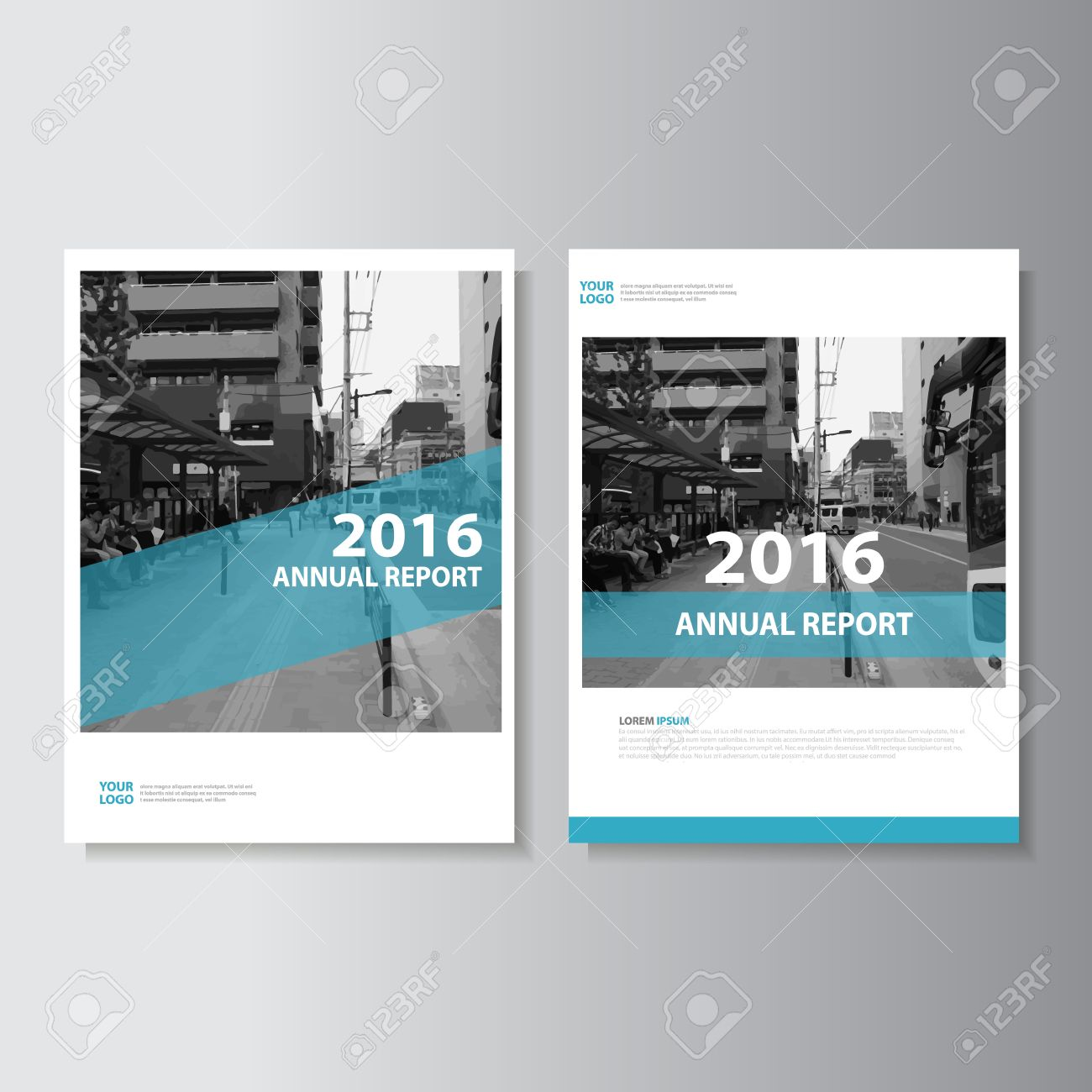 Simple Blue Vector Annual Report Leaflet Brochure Flyer Template – Simple Annual Report Template